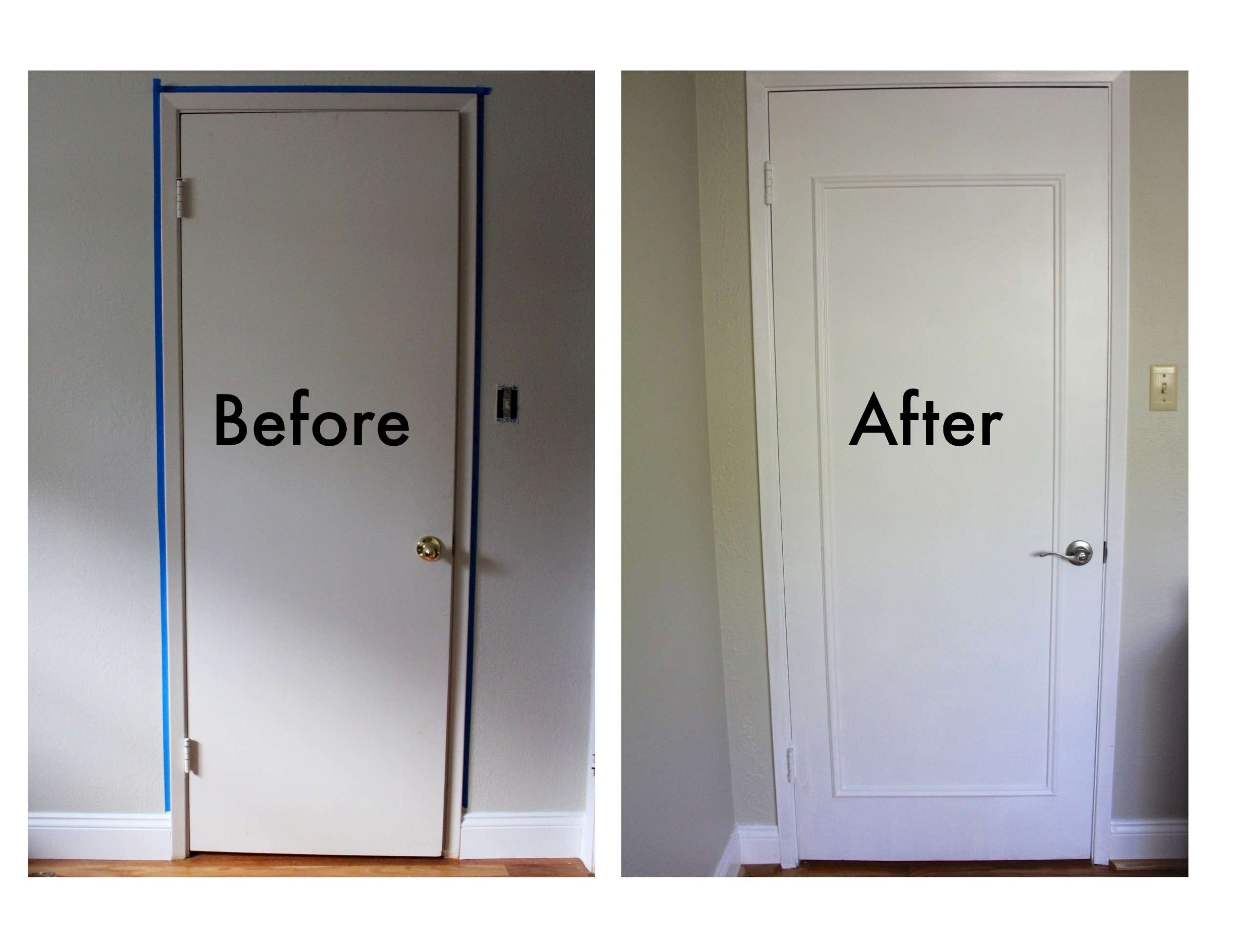 The final step door decor the justinkays chronicles for What kind of paint do you use on interior doors