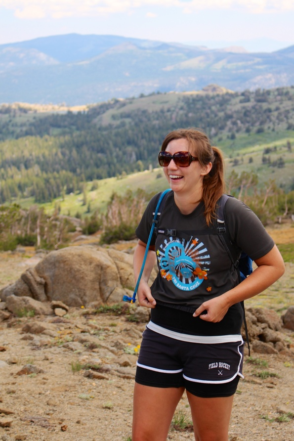 Hiking, hiking, Kimmi is starting to get silly!