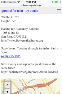 Habitat for Humanity Re-store: amazing!!